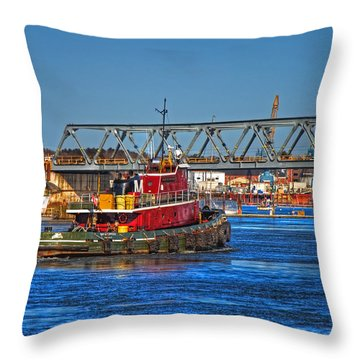 Off To Work Throw Pillow by Joann Vitali