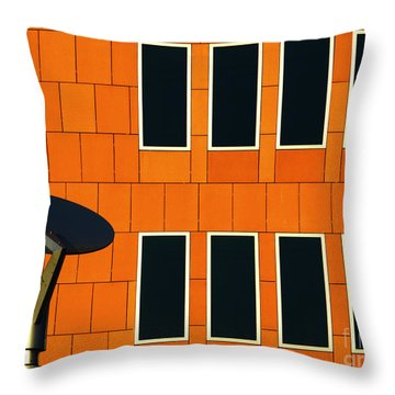 Office Black Out Throw Pillow