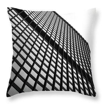 Office Building Facade Throw Pillow by Valentino Visentini