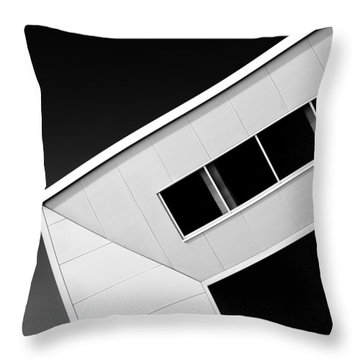 Office Corner Throw Pillow by Dave Bowman