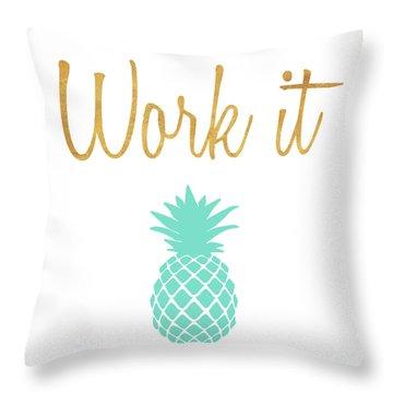 Office Pop II Throw Pillow