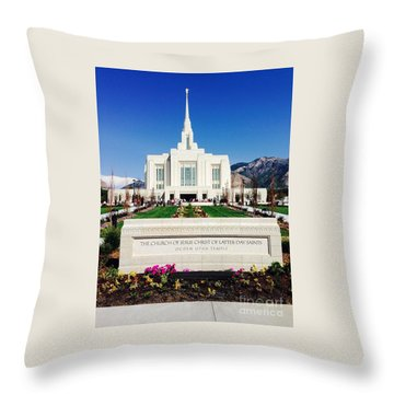 Ogden Temple 1 Throw Pillow