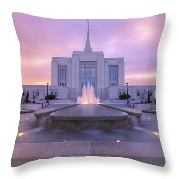 Ogden Temple I Throw Pillow