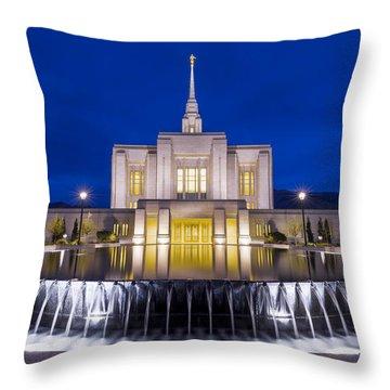 Ogden Temple II Throw Pillow