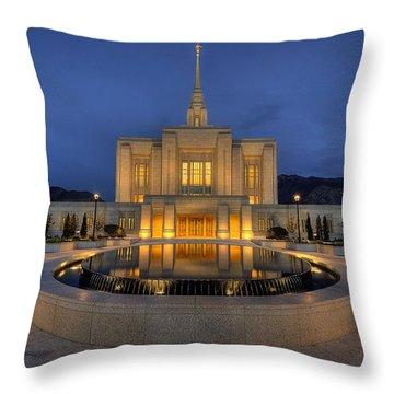Ogden Temple Reflections Throw Pillow