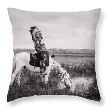 Horse Galloping Throw Pillows