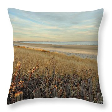 Ogunquit Beach 3 Throw Pillow