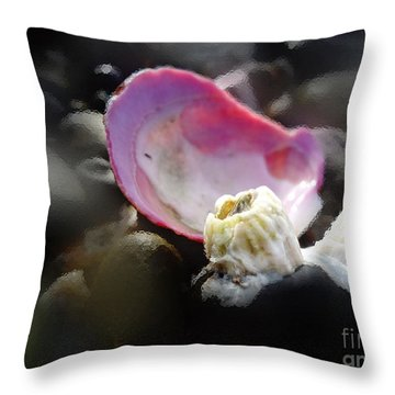 Oh Barnacles Throw Pillow by Arlene Sundby