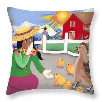 Oh Chick Throw Pillow