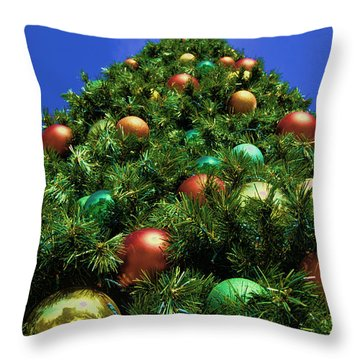 Throw Pillow featuring the photograph Oh Christmas Tree by Kathy Churchman
