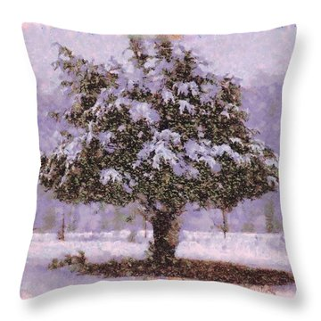 Oh Christmas Tree Throw Pillow by Lorri Crossno