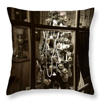 Oh Christmas Tree - Sepia Throw Pillow