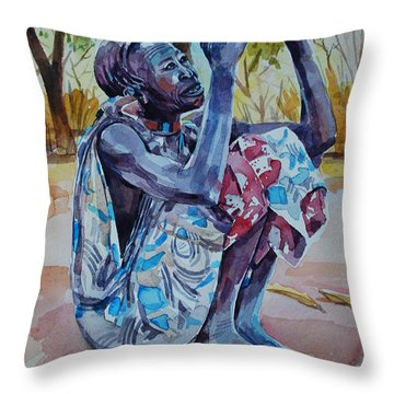 Oh God Oh God Throw Pillow by Mohamed Fadul