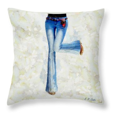 Throw Pillow featuring the painting Oh Happy Day by Elizabeth Coats