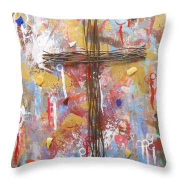 Oh Heavenly Father Throw Pillow