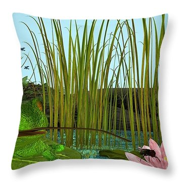 Oh I Missed - No Lunch Today Throw Pillow