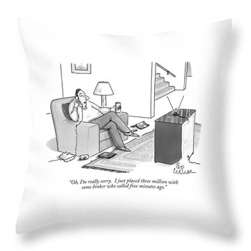 Oh, I'm Really Sorry.  I Just Placed Three Throw Pillow