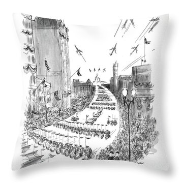 Oh, It's A Grand Day For Harvard! Throw Pillow