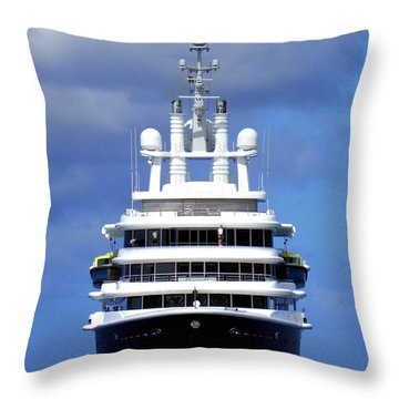Oh Magnificent Luna Throw Pillow by Karen Wiles