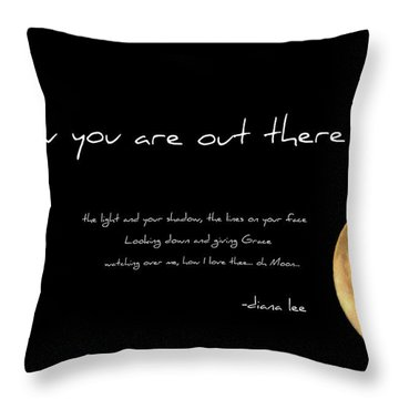 Oh Moon Throw Pillow