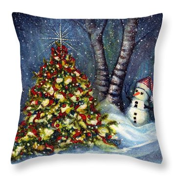 Oh My. A Christmas Tree Throw Pillow