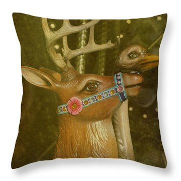 Oh My Deer Throw Pillow by Jan Amiss Photography