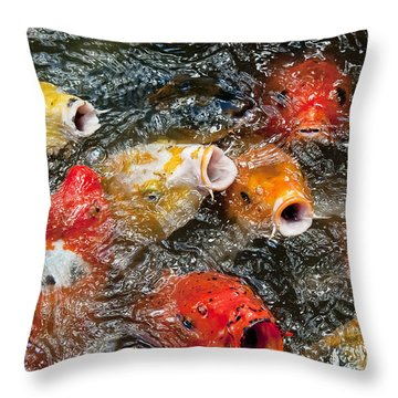 Oh No Why Must They Feed Us Naked Throw Pillow by Wilma  Birdwell