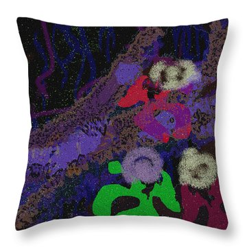 Oh The Aftermath Throw Pillow by Mathilde Vhargon