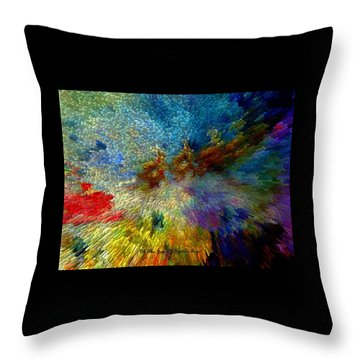 Throw Pillow featuring the painting Oh The Joys Of Santa's Toys by Lisa Kaiser