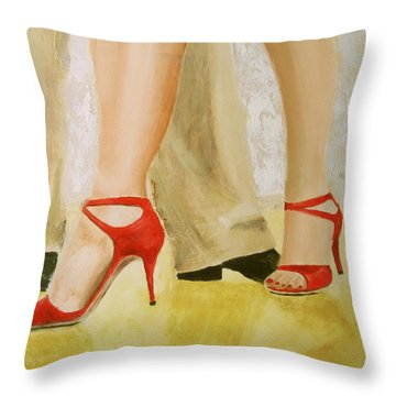 Oh Those Red Shoes Throw Pillow