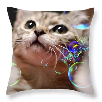 Oh What A Wonderful World Throw Pillow