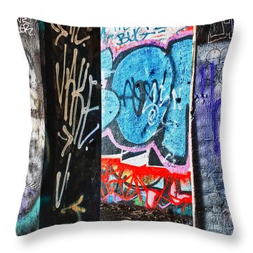 Oh Yes - Graffiti Throw Pillow