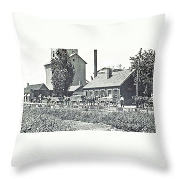 Ohio Erie Canal - Circa 1911 Throw Pillow