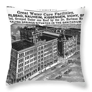 Ohio: Sanitarium, 1901 Throw Pillow by Granger