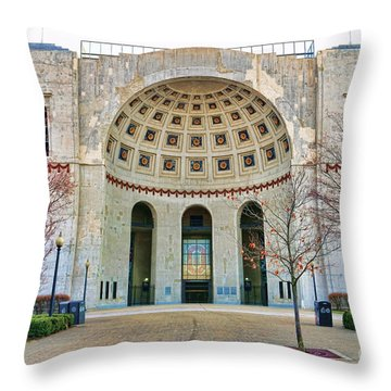 Ohio Stadium Main Entrance 1672 Throw Pillow