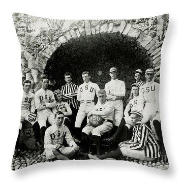 Ohio State Football Circa 1890 Throw Pillow by Jon Neidert