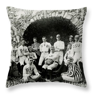 Ohio State Football Circa 1890 Throw Pillow