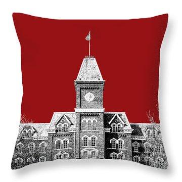 Ohio State University - Dark Red Throw Pillow