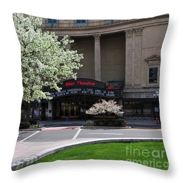 D45l42 Ohio Theatre Photo Throw Pillow