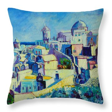 Throw Pillow featuring the painting OIA by Ana Maria Edulescu
