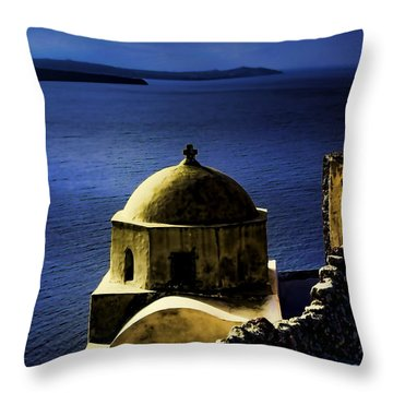 Oia Greece Throw Pillow