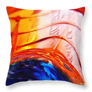 Oil And Water 26 Throw Pillow by Sarah Loft