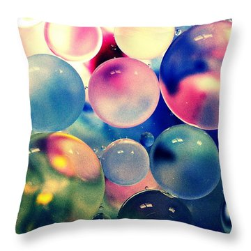 Oil And Water Iv Throw Pillow