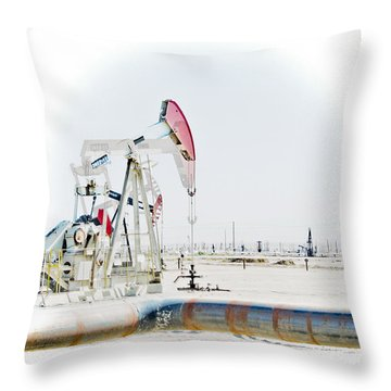 Oil Field Throw Pillow