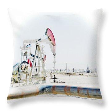 Oil Field Throw Pillow