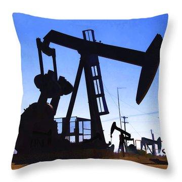 Oil Fields Throw Pillow