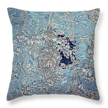 Throw Pillow featuring the photograph Oil Is Thicker Than by Suzy Piatt