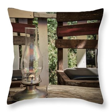 Throw Pillow featuring the digital art Oil Lamp 2 by Gandz Photography