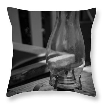 Throw Pillow featuring the digital art Oil Lamp by Gandz Photography