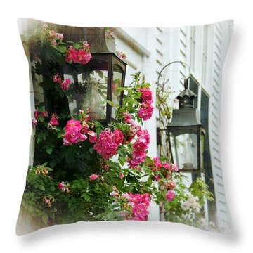 Oil Lanterns  Throw Pillow by Alana Ranney